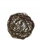 Willow basket ball, diameter 40cm, natural